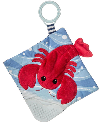 "Lobbie Lobster Crinkle Teether Activity Toy - 6"" - Mary Meyer Baby"