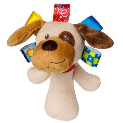 "Taggies Buddy Dog Rattle - 6"" - Mary Meyer Baby"