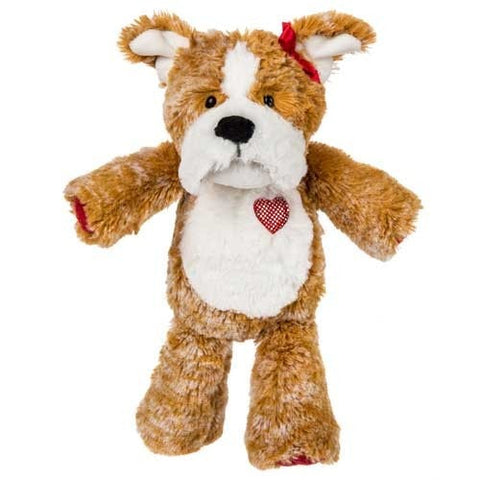 "Marshmallow Zoo Junior Speckles Bulldog Valentine's Day Dog - 10"" - Mary Meyer"