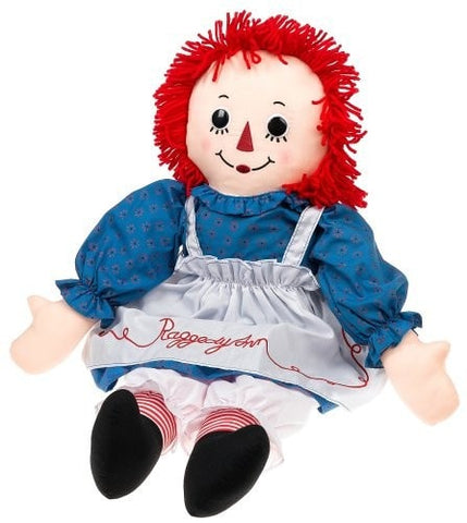 "Raggedy Ann Button Eye Doll - 30"" - Applause"