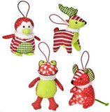 "Plush Patchwork Christmas Ornaments  - 4"" - Mary Meyer"