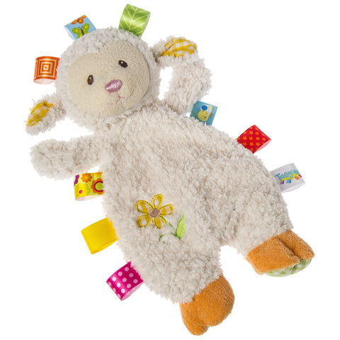 "Taggies Sherbet Lamb Lovey Security Blanket - 12"" - Mary Meyer Baby"