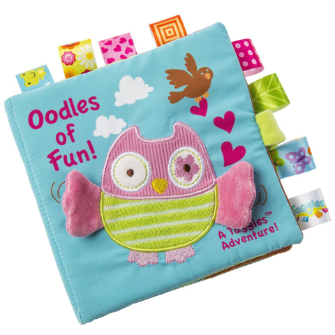 "Taggies Oodles Owl Soft Book - 6"" - Mary Meyer Baby"