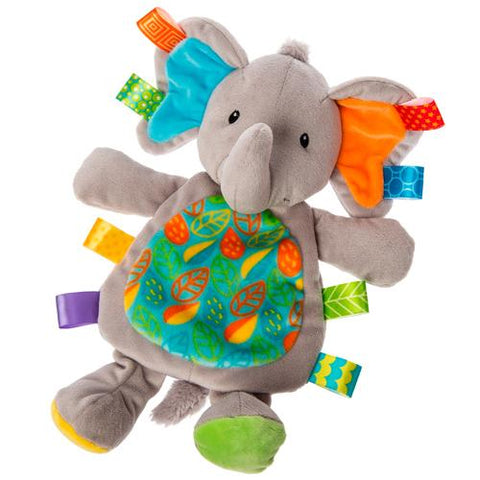 "Taggies Little Leaf Elephant Lovey Security Blanket - 12"" - Mary Meyer Baby"