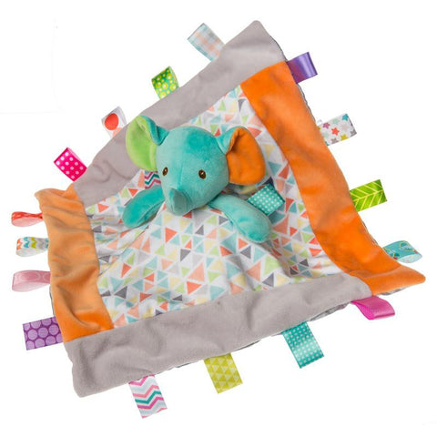 "Taggies Kaleidoscope Elephant Character Blanket - 13"" - Mary Meyer Baby"
