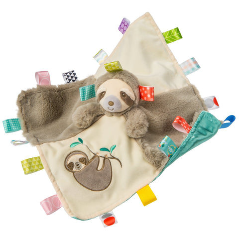 "Taggies Molasses Sloth Character Blanket - 13"" - Mary Meyer Baby"