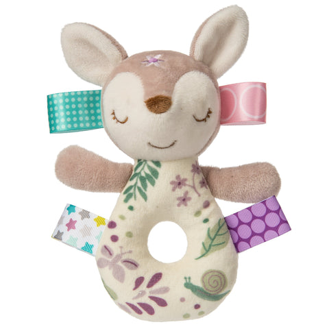 "Taggies Flora Fawn Ring Rattle - 7"" - Mary Meyer Baby"