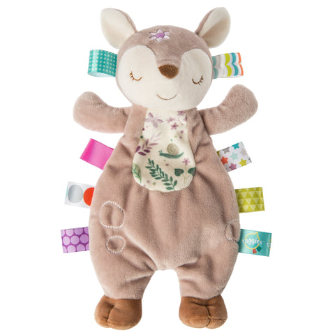 "Taggies Flora Fawn Lovey Security Blanket - 12"" - Mary Meyer Baby"