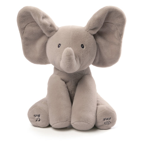 "Flappy the Singing Peek a Boo Elephant - 12"" - Baby Gund"