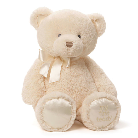 "My First Teddy Bear Cream Large - 18"" - Baby Gund"
