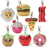 "Sparkle Snacks Plush Food Backpack Clip - 3"" - Gund"