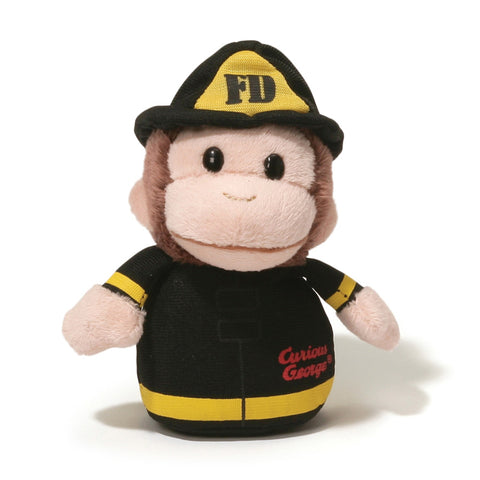 "Curious George Fireman Sound Toy - 4"" - Gund"