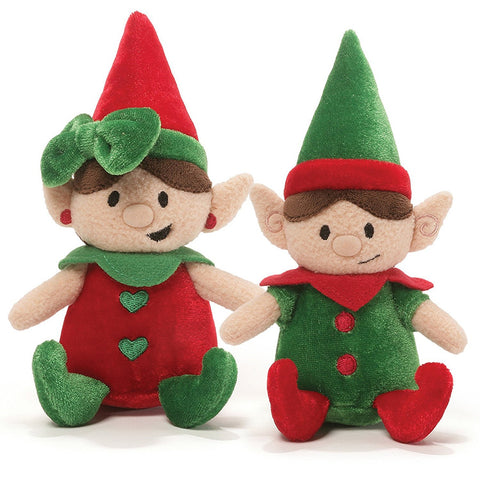 giggling elf gigglers plush christmas stuffed animals 65 gund