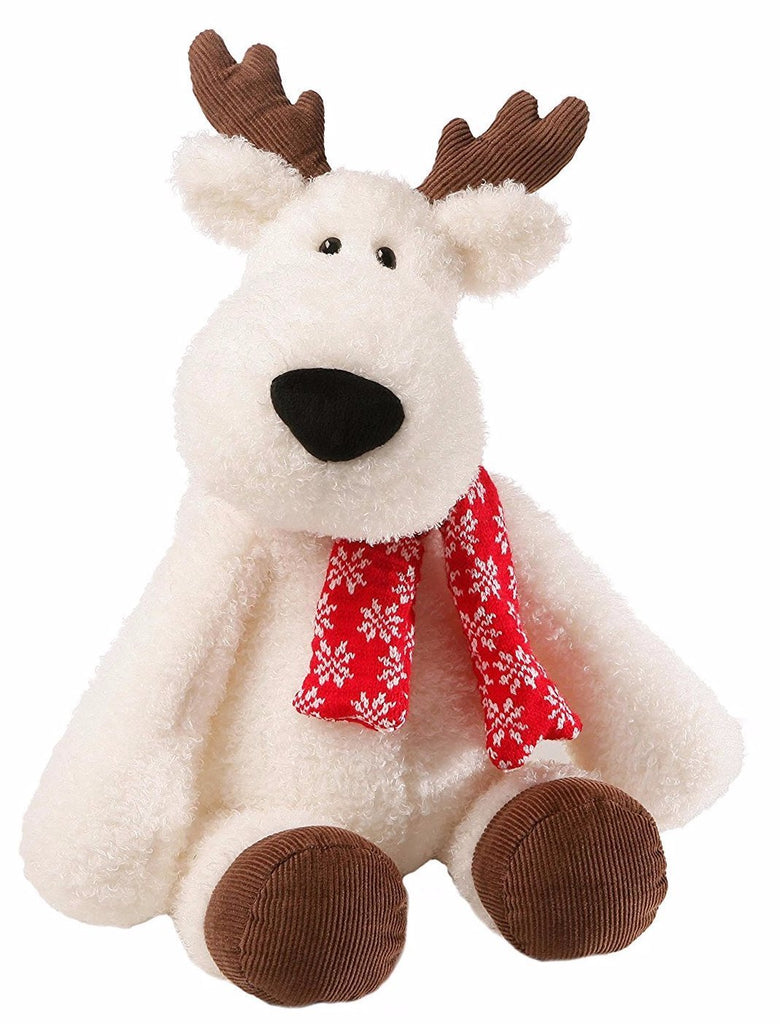 Aspen The White Reindeer Winter Holiday Stuffed Animal