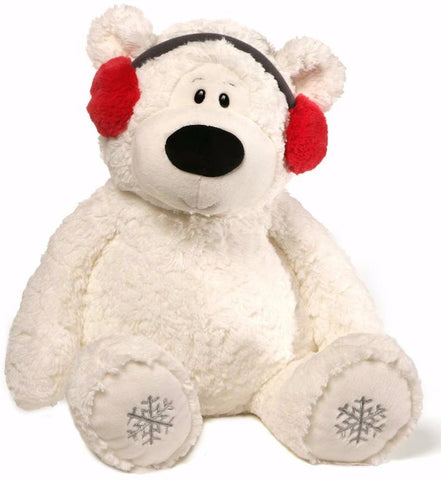 "Blizzard the Winter Holiday Polar Bear with Earmuffs Jumbo  - 24"" - Gund"