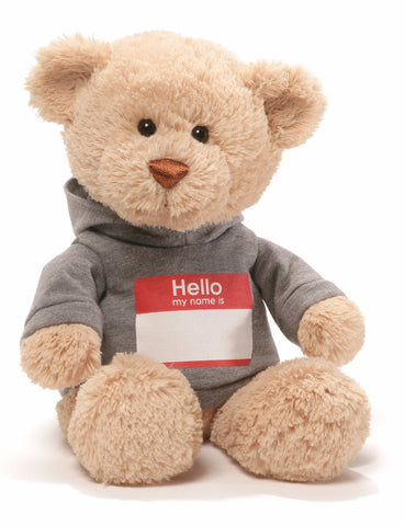 "Hello My Name Is T-Shirt Personalizeable Teddy Bear - 12"" - Gund"