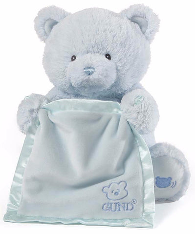 "My First Teddy Peek A Boo Talking Teddy Bear Blue - 11.5"" - Baby Gund"