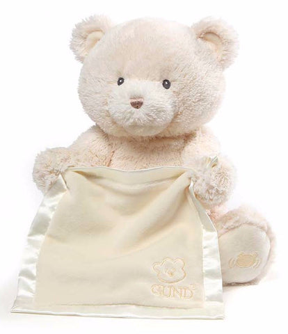 "My First Teddy Peek A Boo Talking Teddy Bear Cream - 11.5"" - Baby Gund"