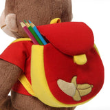 "Back to School Curious George with Backpack - 16"" - Gund"