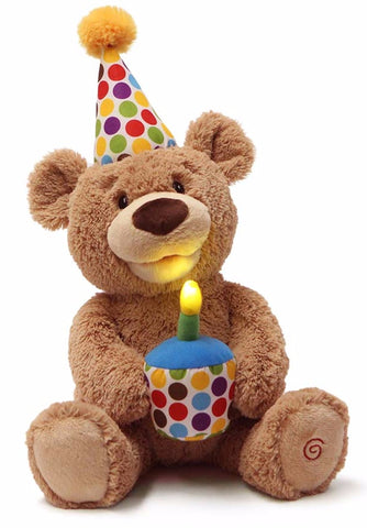 Singing Happy Birthday Animated Teddy Bear With Light Up Candle