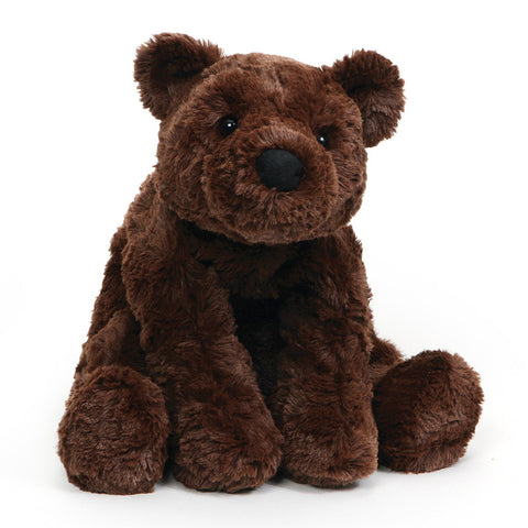 "Chocolate Brown Sitting Teddy Bear Cozy Large - 10"" - Gund"