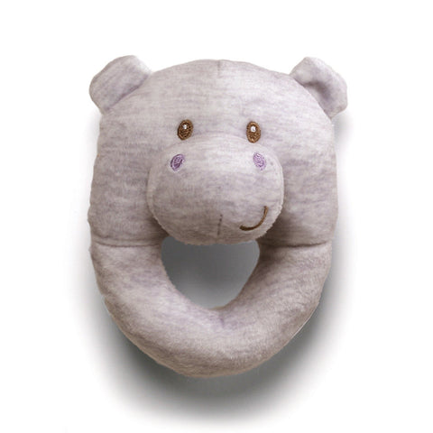 "Playful Pals Hippo Soft Ring Rattle - 4.5"" - Baby Gund"