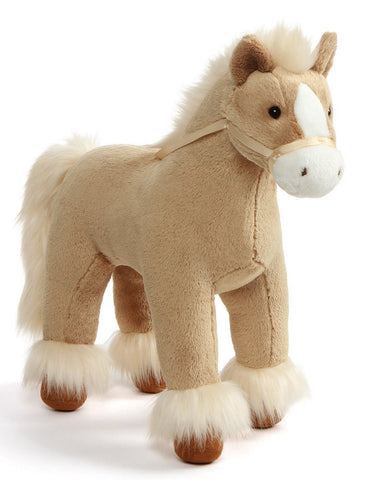 "Dakota Tan Standing Clydesdale Horse Stuffed Animal - 15"" - Gund"