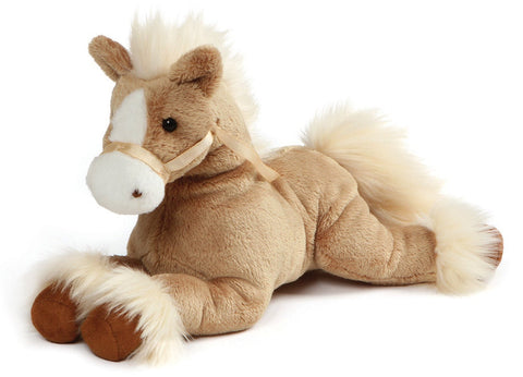 "Fanning Tan Lying Palomino Horse Stuffed Animal - 12"" - Gund"