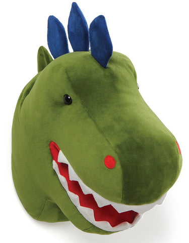"Chomper Dino Head Plush Dinosaur Wall Hanging Decor - 13.5"" - Gund"