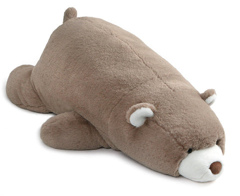 "Gund Snuffles Taupe Laying Down Teddy Bear - 26"" - Gund"