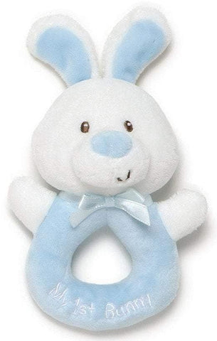 "My 1st Bunny Blue Plush Easter Ring Rattle - 6"" - Baby Gund"