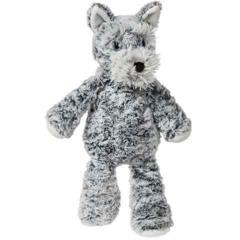 "Marshmallow Zoo Schnauzer Dog - 13"" - Mary Meyer"