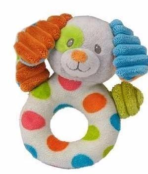 "Confetti Puppy Dog Ring Rattle - 5.5"" - Mary Meyer Baby"