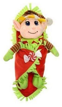 "Santa's Secret Elf Blanket Baby with Plush Girl Elf - 12"" - Fiesta"