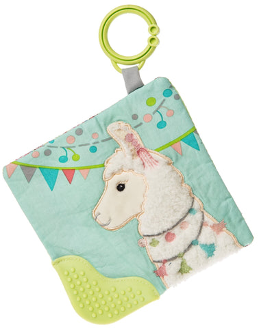 "Lily Llama Crinkle Teether Activity Toy - 6"" - Mary Meyer Baby"