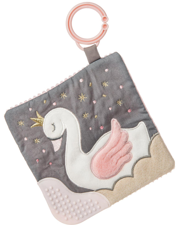 Itsy Glitzy Swan Crinkle Teether Activity Toy - 6
