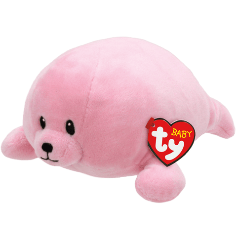 "Doodles the Pink Seal Medium - 10"" - Baby Ty"