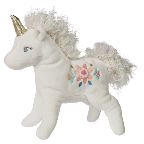 "Trinkets the White Unicorn Stuffed Animal - 7"" - Mary Meyer"