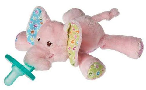 "Ella Bella Pink Elephant WubbaNub Pacifier - 6"" - Mary Meyer Baby"