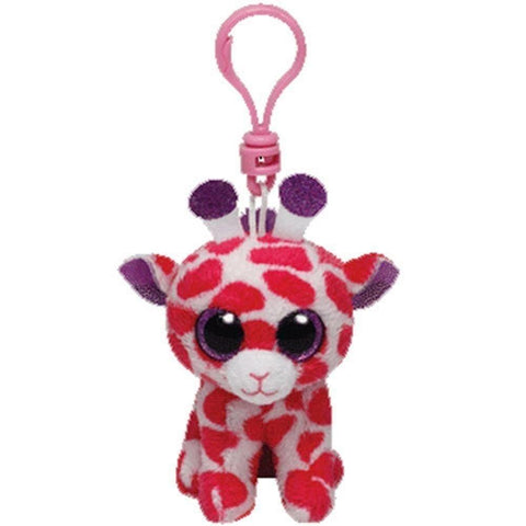 "Twigs the Pink Giraffe Key Clip - 4"" - Ty Beanie Boo's"