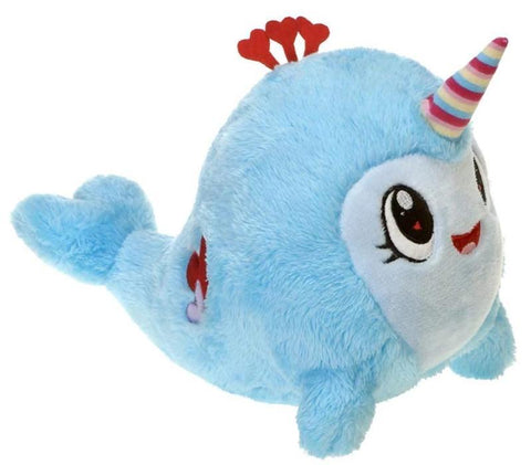 "Valentine's Day Narwhal Stuffed Animal - 11"" - Fiesta"