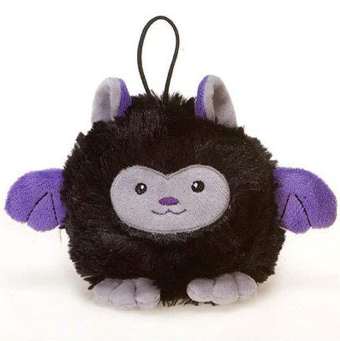 "Black Bat Halloween Stuffed Animal Plush Toy - 4"" - Fiesta"