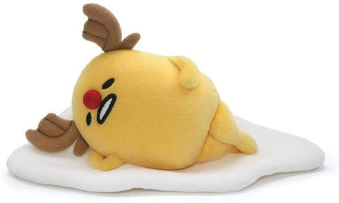 "Gudetama Egg with Reindeer Horns Plush Toy - 7"" - Gund"