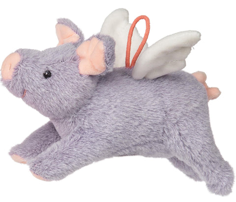 "FabFuzz Piggles the Purple Flying Pig Stuffed Animal - 7.5"" - Mary Meyer"