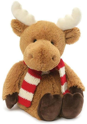 "Merry Moose Winter Stuffed Animal with Scarf - 17"" - Gund"