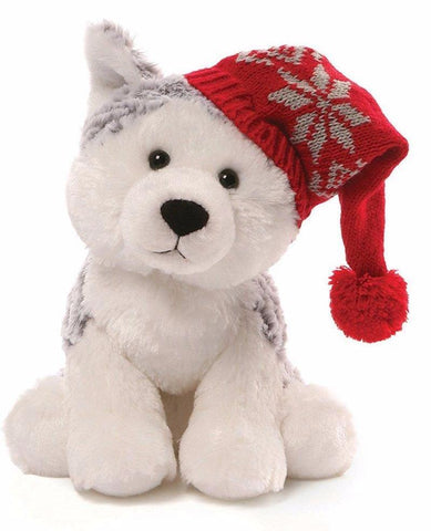 "Flurry the Christmas Husky Dog - 8.5"" - Gund"