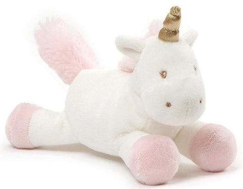"Luna the Unicorn Stuffed Animal Rattle - 10"" - Baby Gund"