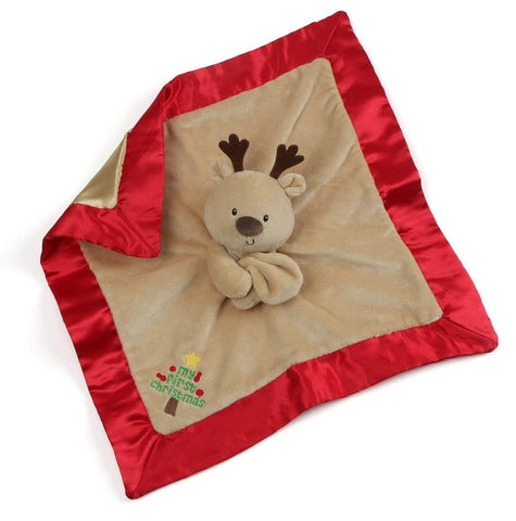 "Reindeer My First Christmas Lovey Baby Blanket - 14"" - Baby Gund"