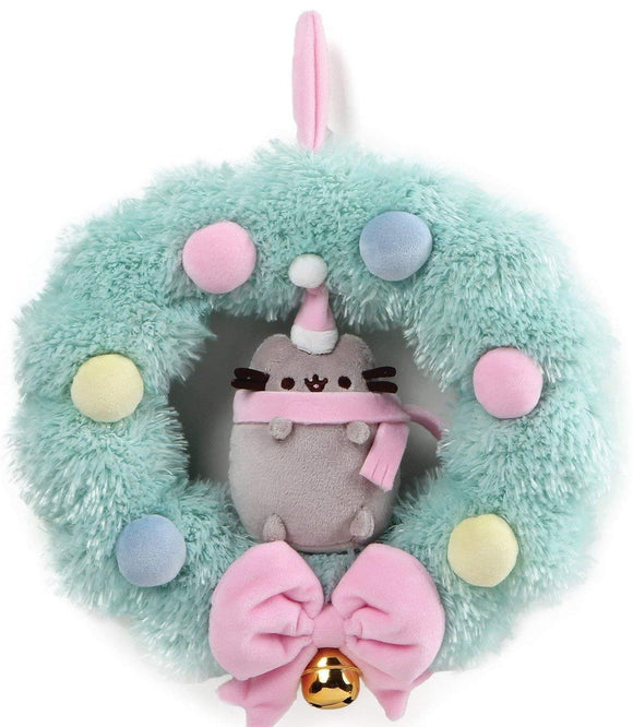 Pusheen Cat Plush Holiday Wreath with Bell - 10