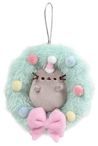 "Pusheen Cat Plush Wreath Christmas Ornament - 5"" - Gund"